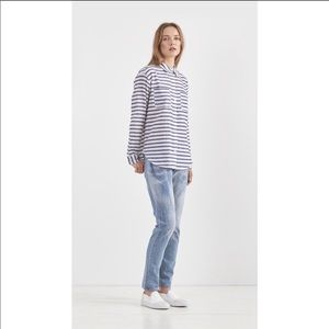 Elizabeth & James | Emmanuel Blue Striped Shirt